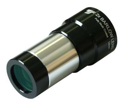 Lente di Barlow acromatica TS Optics da 31,8mm - 1,5x e 2x - trattamenti antiriflesso multistrato