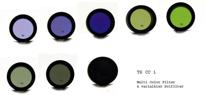 Filtro TS da 31,8mm multi colore e polarizzatore variabile