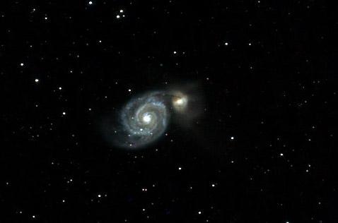 M51 durch den 150/750 Parabol Newton