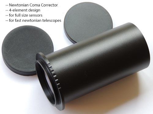 Correttore di coma aplanatico per newton a 4 elementi - design by GPU Optics