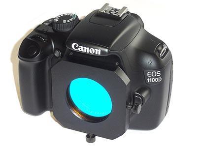 Slitta portafiltri per CANON EOS con filetto M48 - basso profilo