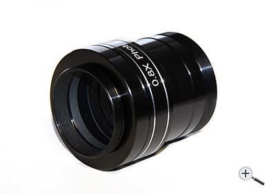 """Spianatore/riduttore TS 0,8x da 2"""" per rifrattori da 70mm e 80mm"""