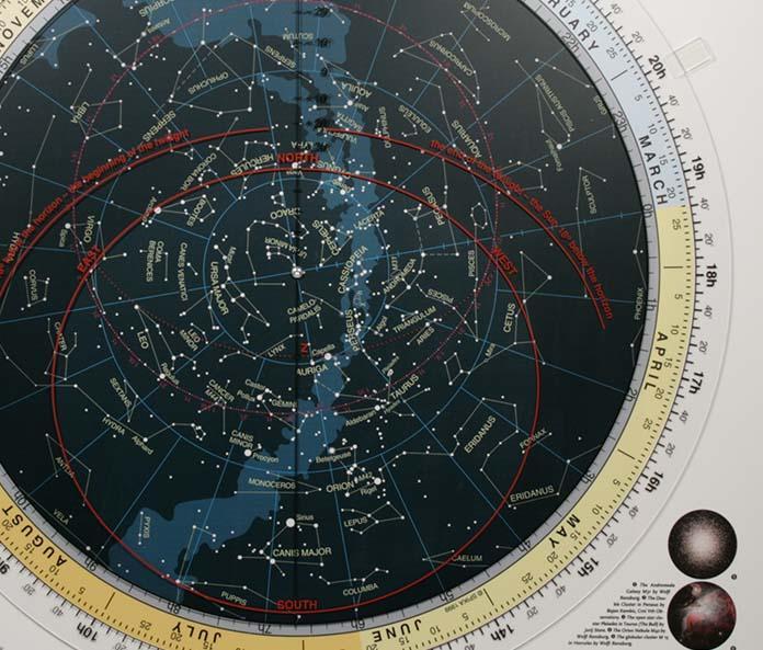 Planisfero celeste ruotabile TS - 81x82cm - lingua inglese