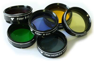 Set Filtri colorati TS Optics da 31,8mm - 6 pezzi - per piccoli telescopi fino a 130mm di apertura