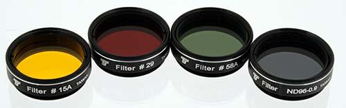 Set Filtri TS da 31,8mm - 4 pezzi - per telescopi a partire da 150mm