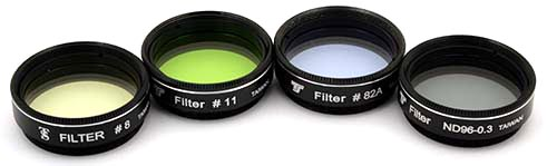 Set Filtri TS da 31,8mm - 4 pezzi - per telescopi di piccola apertura fino a 80mm