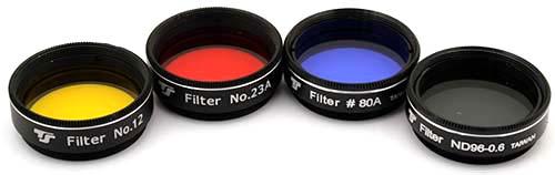 Set Filtri TS da 31,8mm - 4 pezzi - per telescopi di apertura da 80-130mm