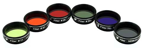 Set Filtri TS da 31,8mm - 6 pezzi - per telescopi da 150mm di apertura