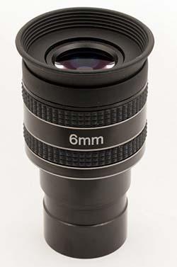 """Oculare planetario TS Optics HR Planetary UWA - 60° FOV - 1.25"""" - 6mm di lunghezza focale"""