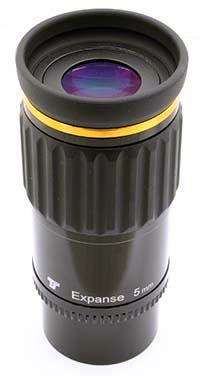 """Oculare TS Optics Expanse - barilotto 2"""" e 1.25"""" - 70° FOV - elemento ED - lunghezza focale 5mm"""