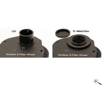 Ruota portafiltri TS per filtri da 31,8mm - 5 posizioni - attacchi T2 e 31,8mm