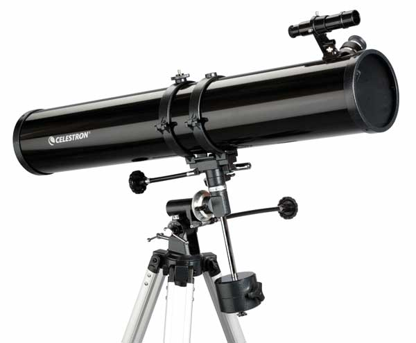 Teleskop express: celestron powerseeker 114 900mm newton teleskop ab 8j.