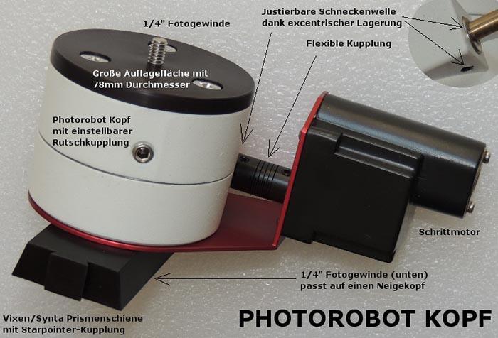 Teleskop express lacerta photo robot motorisierter panoramakopf