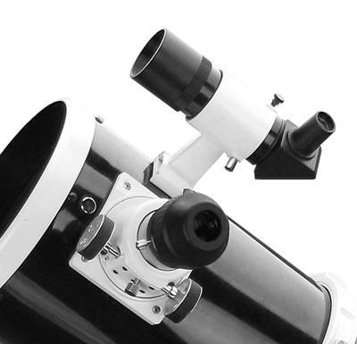 Skywatcher Black Line Newtonian - focuser and viewfinder detail