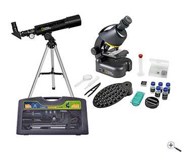 Teleskop express: national geographic teleskop mikroskop set mit