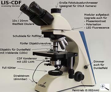 Teleskop express: lacerta infinity series dunkelfeld mikroskop mit 4