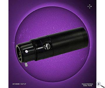 Teleskop express lunt kalzium ansatz für refraktoren bis mm