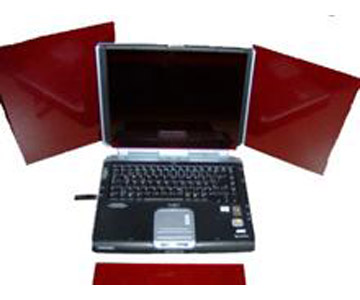 Pannello in acrilico rosso TS Optics per notebook e PC - 215x140mm