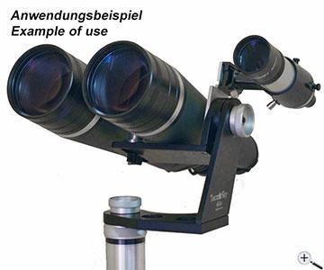 Teleskop express: tecnosky halter mit sucherschuh für elle montierung