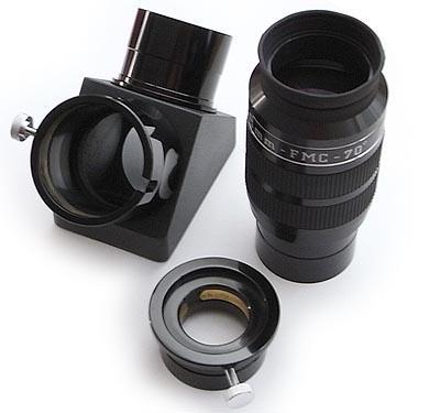 """Kit accessori TS Optics: diagonale da 2"""" 99% dielettrico + oculare ERFLE 2"""" 38mm grandandolare"""