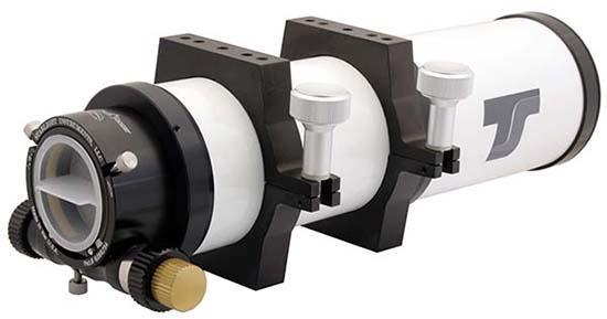 """Tripletto Super APO TS da 80mm f/6 con lenti O'Hara in FPL-53 e focheggiatore Feater Touch da 2"""""""