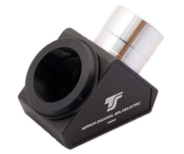Diagonale a specchio TS Optics a 90° con filetto T2 lato oculare - 99% riflettività - dielettrico - 1/12 lambda - da 31,8mm