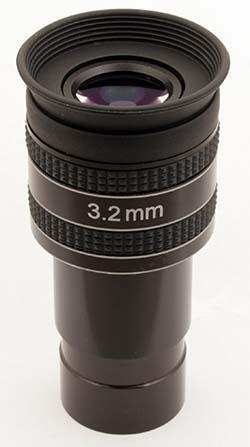 """Oculare planetario TS Optics HR Planetary UWA - 60° FOV - 1.25"""" - 3.2mm di lunghezza focale"""