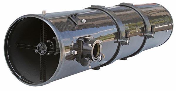 """TS 8"""" f/5 Newton ONTC con tubo in fibra di carbonio e focheggiatore a scelta"""